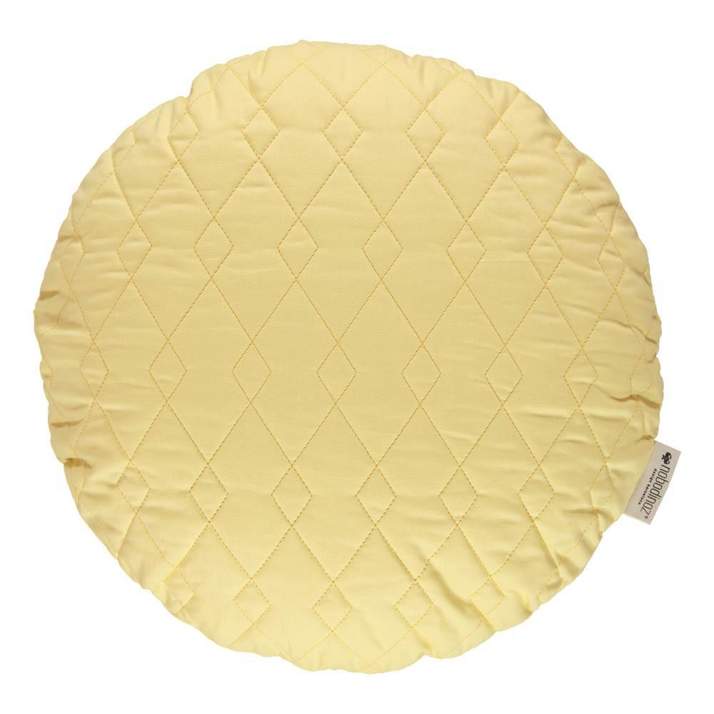 coussin-rond-sitges-45cm-jaune-pale